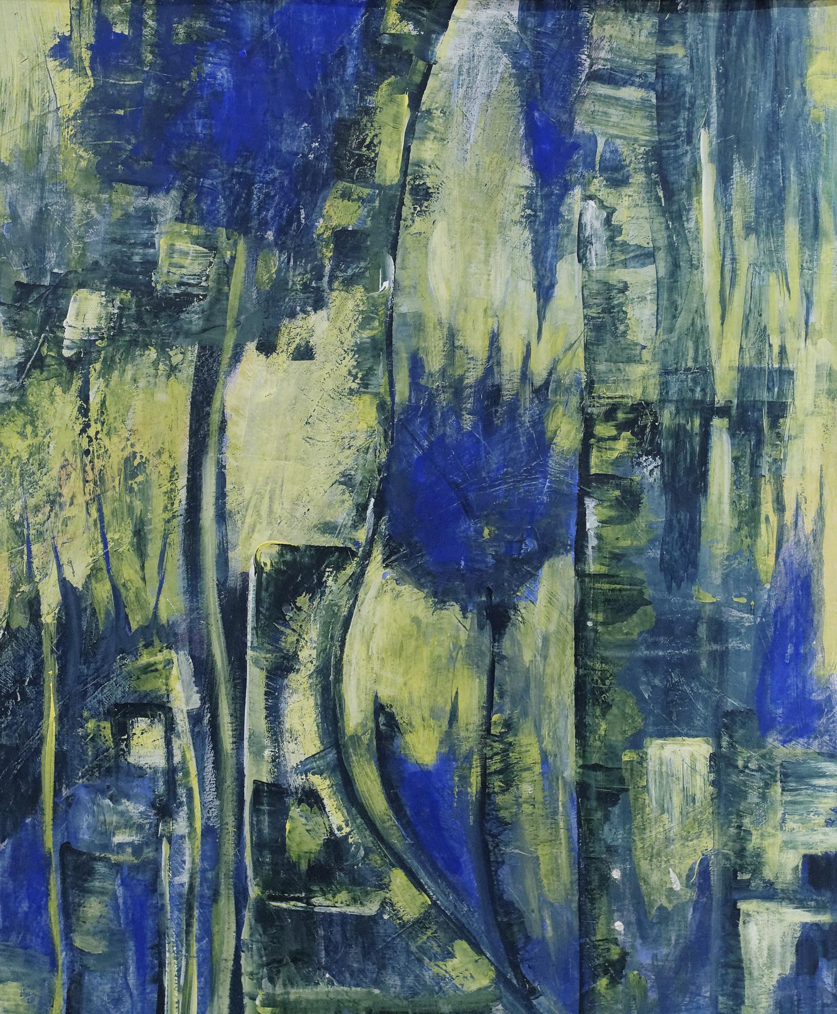 2003 - Blumen abstrakt, 50x60cm, Acryl