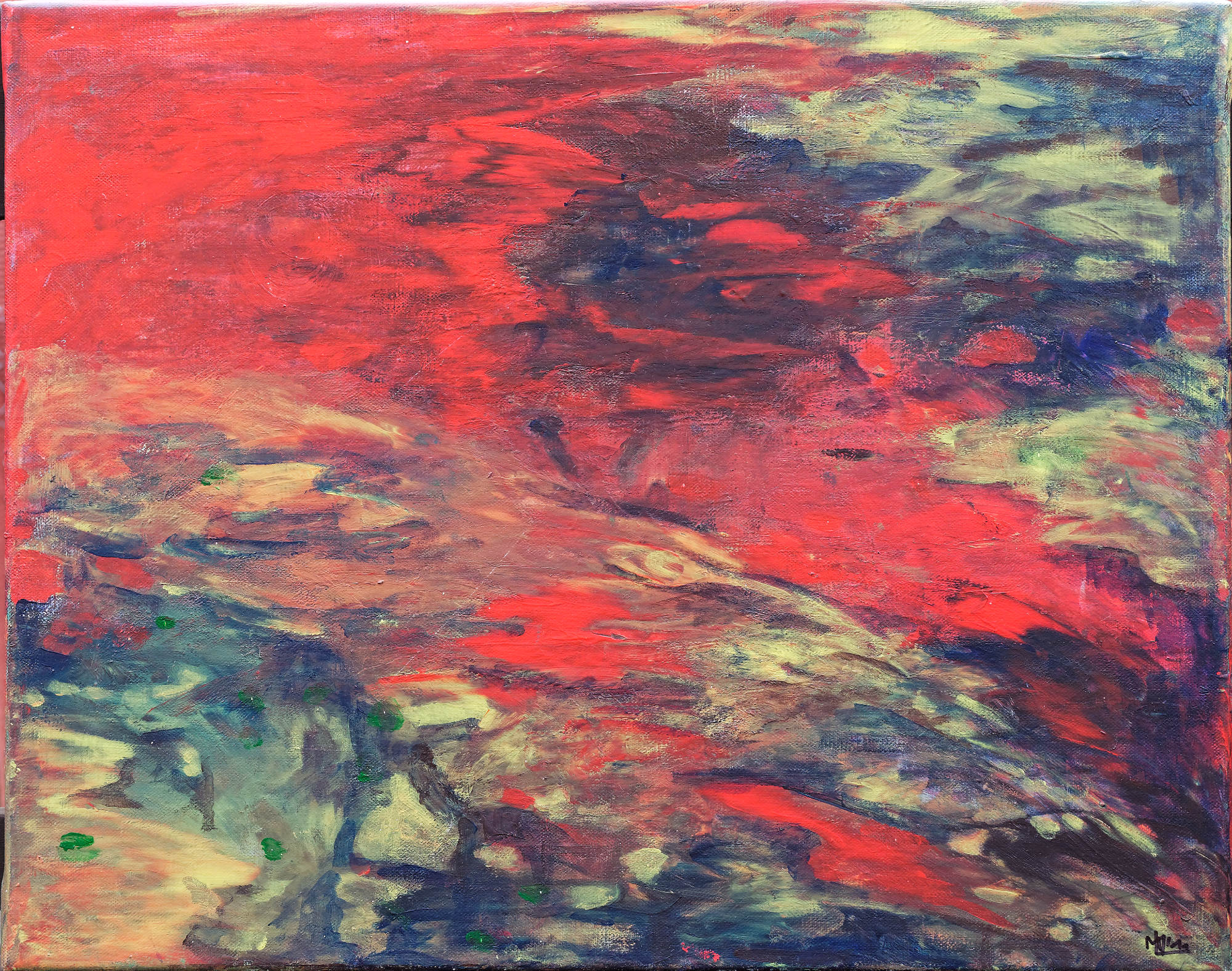 2009 - Phantasie (Komposition in Rot), 50x40cm, Acryl