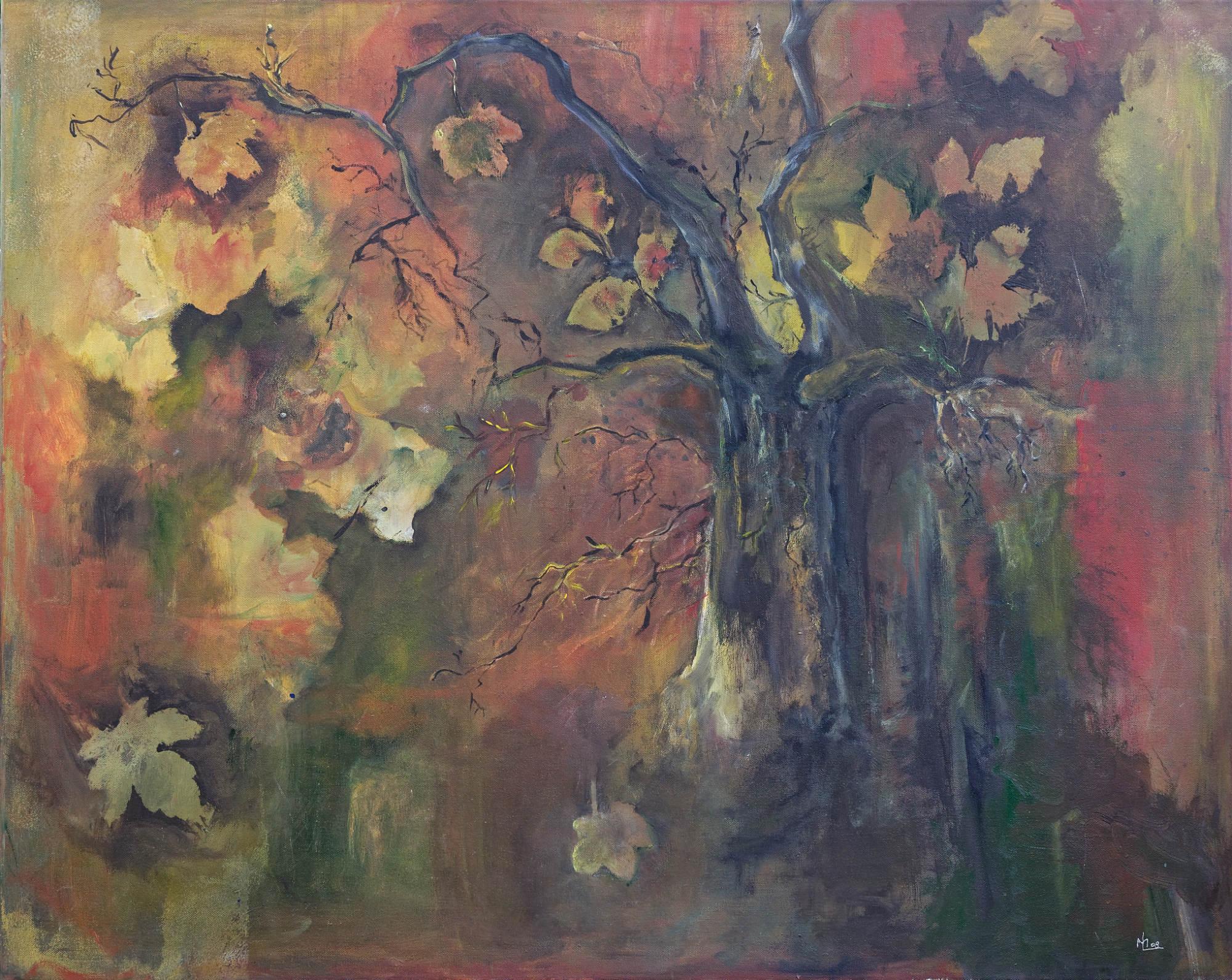 2008 - Die Blätter fallen, 80x60cm, Acryl