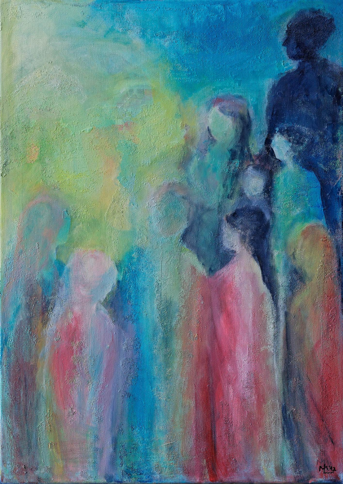 2015 - Licht, 50x70cm, Acryl-Spachteln