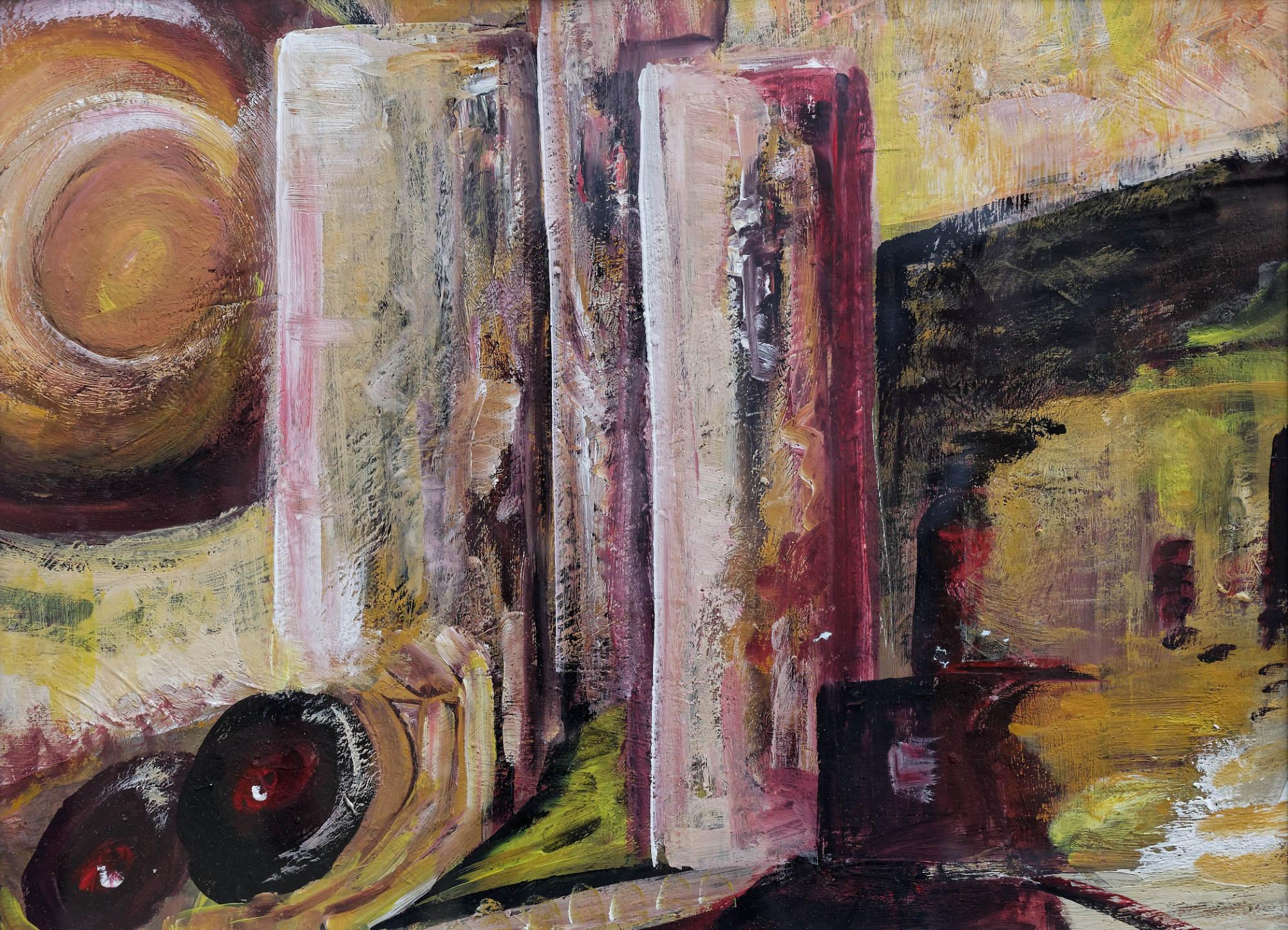 2011 - Drei Säulen, 46x34cm, Acryl
