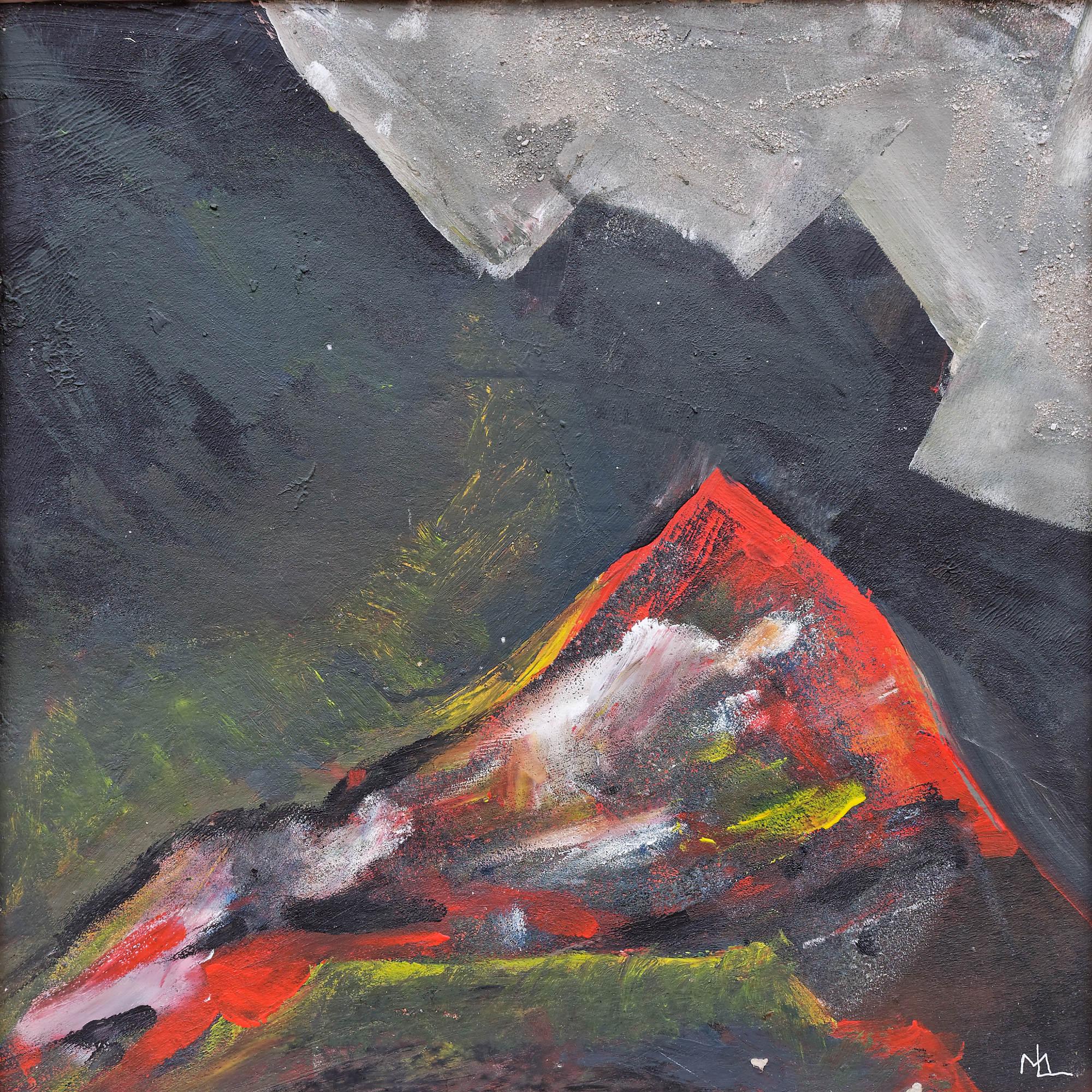 2003 - Rot auf Schwarz, 40x30cm, Acryl