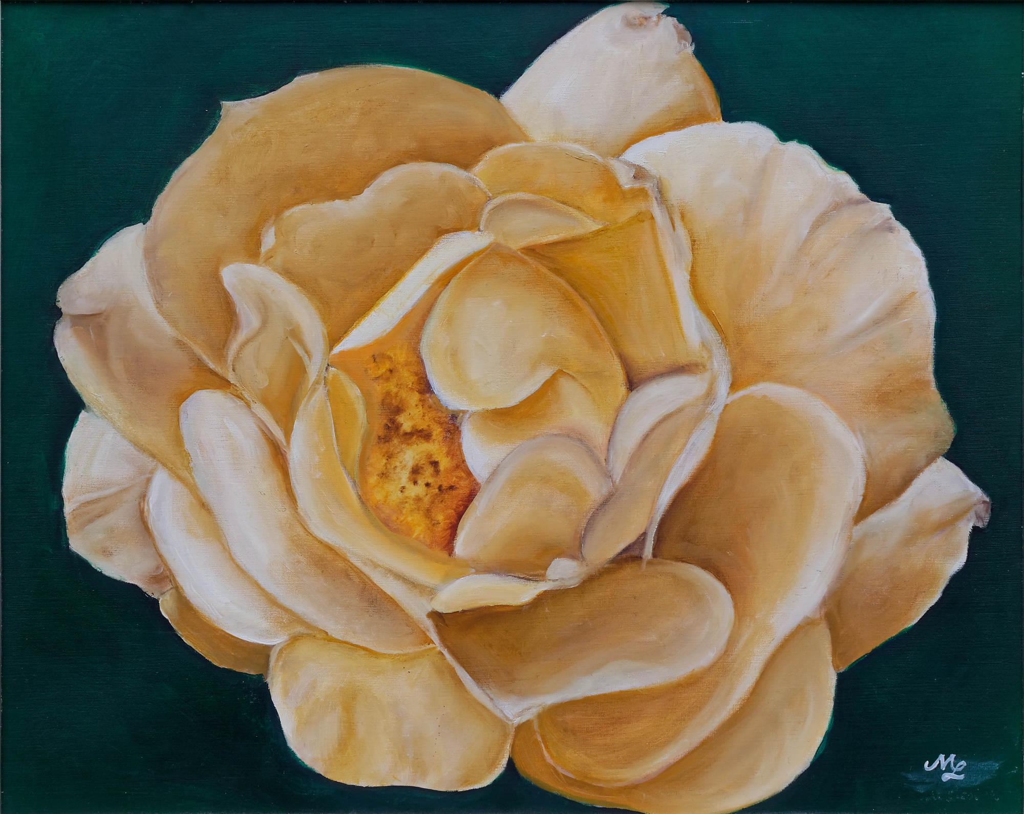 2001 - Gelbe Rose, 60x50cm, Öl