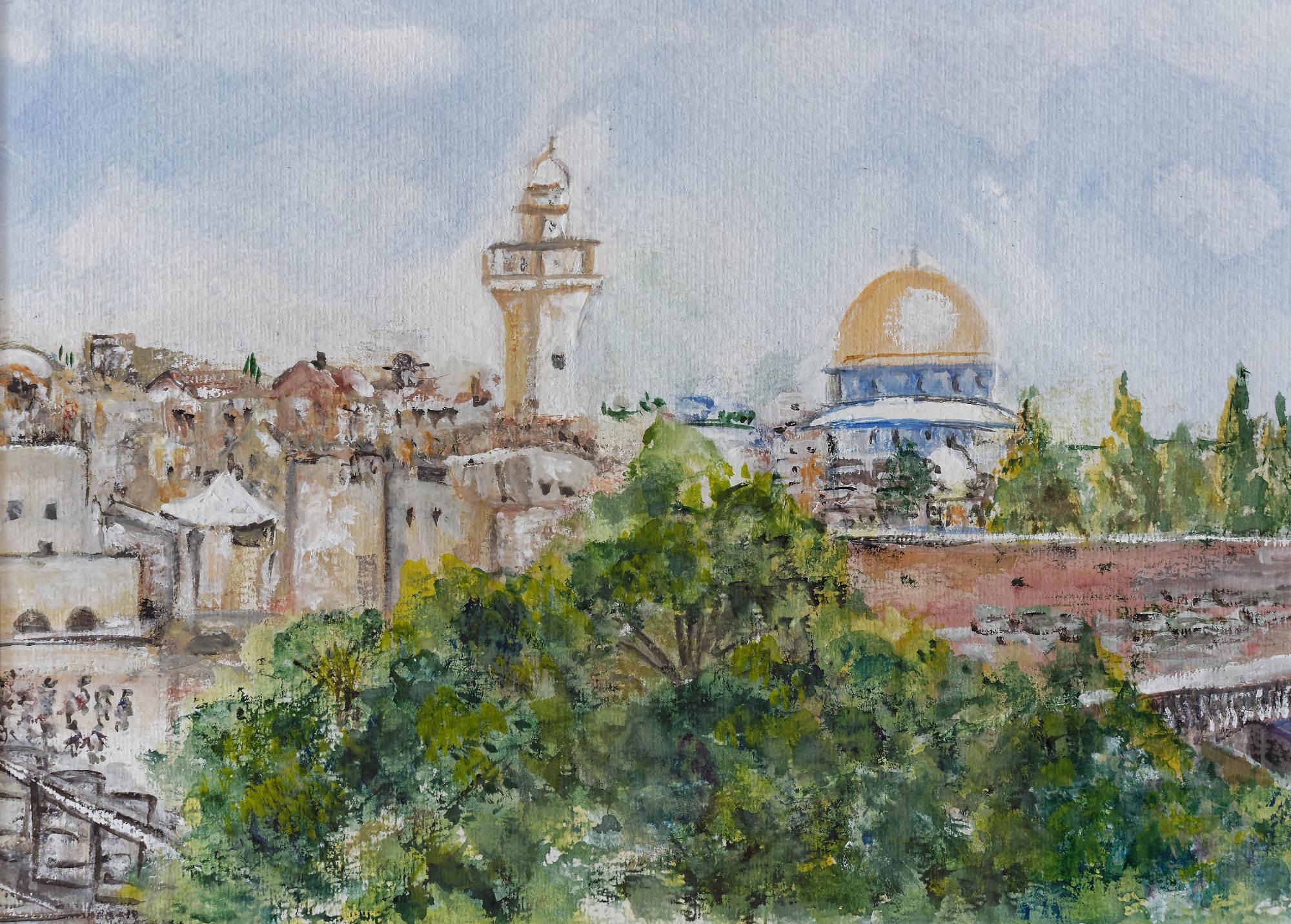 2009 - Jerusalem, 30x20cm, Aquarell