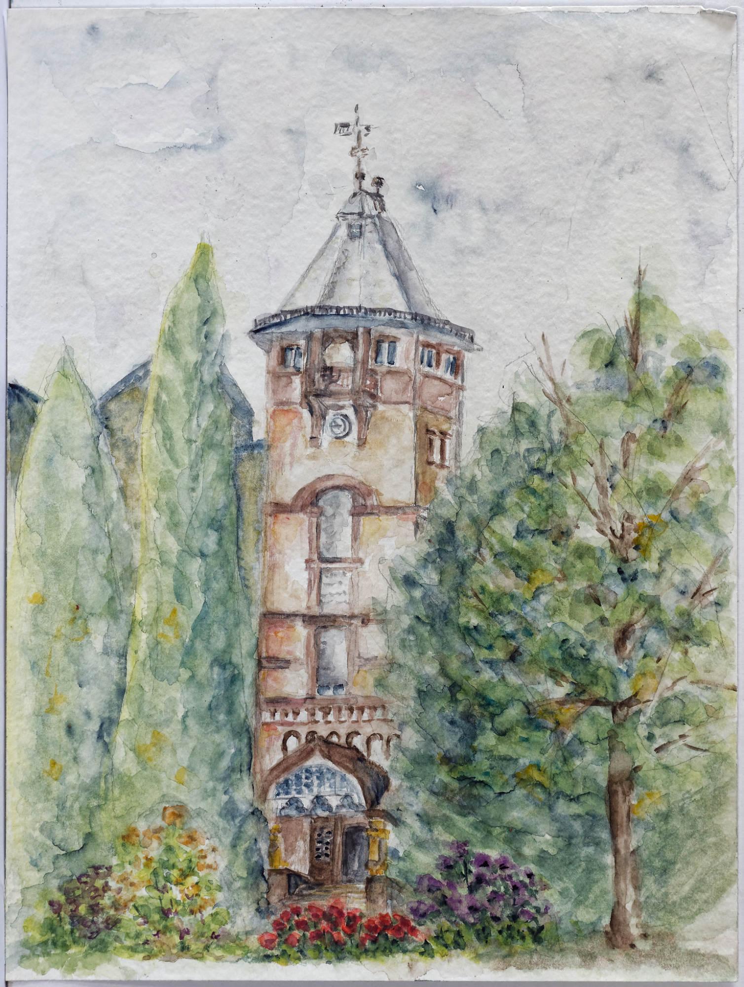 1994 - Oberursel, 50x40cm, Aquarell