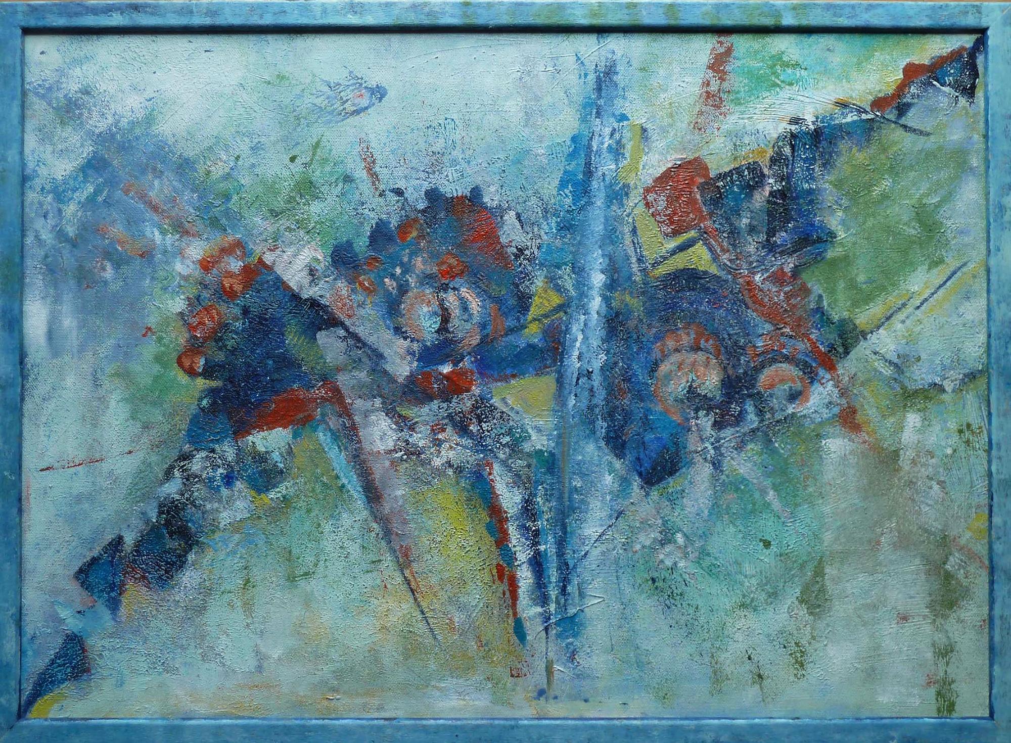 2016 - Abstrakt, 70x50cm, Acryl-Spachteln
