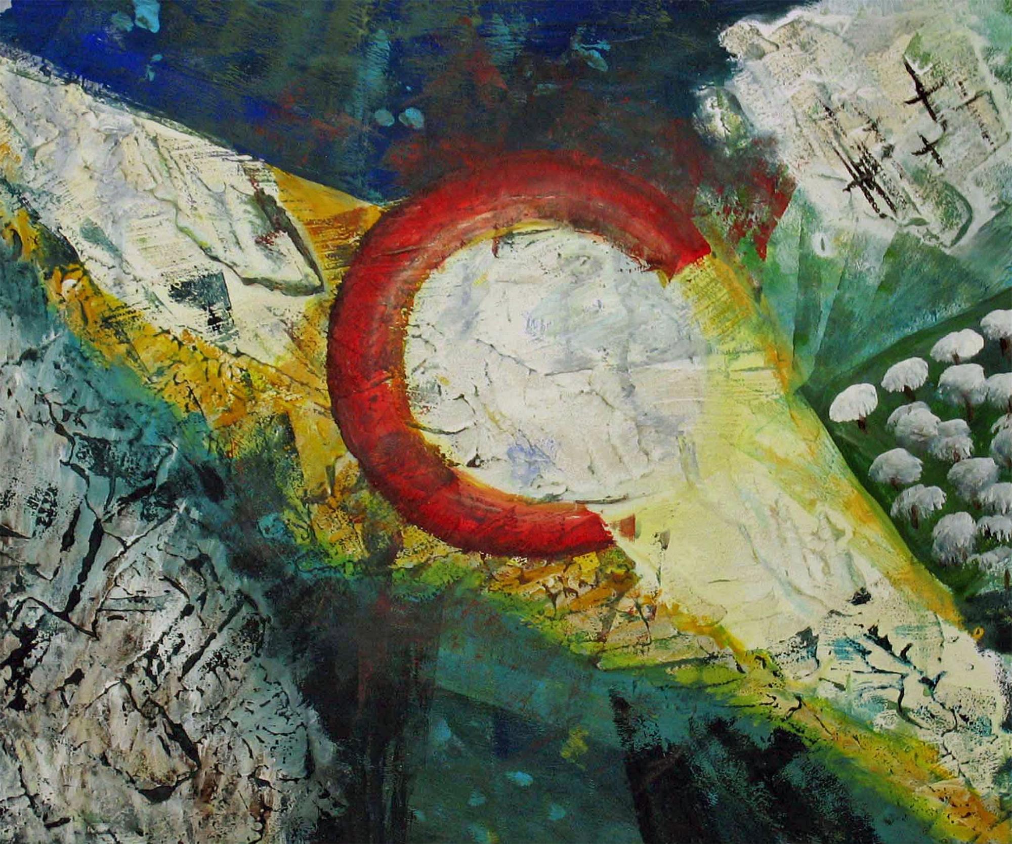 2008 - Auferstehung, 60x50cm, Acryl-Spachteln