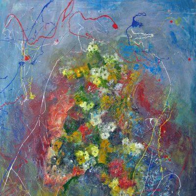 2007 - Blumengesang, 80x100cm, Acryl-Spachteln