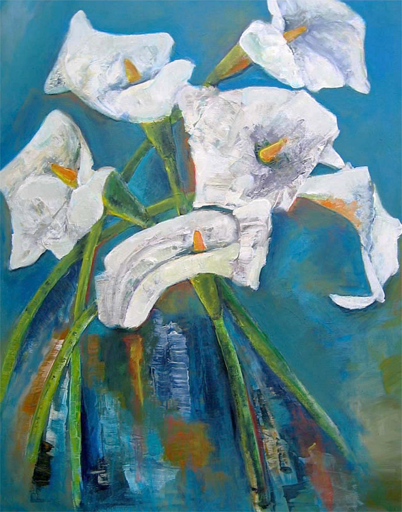 2008 - Calla, 80x100cm, Acryl-Spachteln