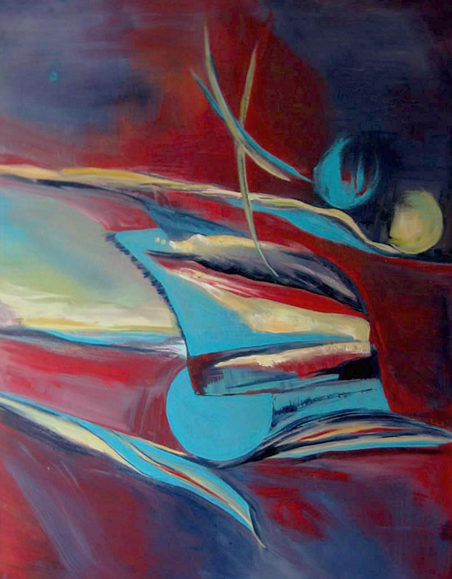 2008 - Entfaltung, 80x100cm, Acryl