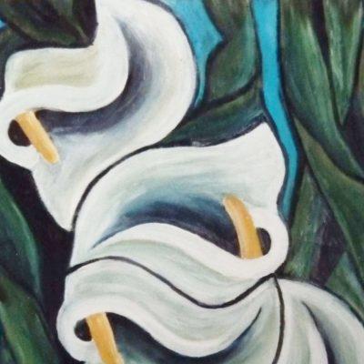 2000 - Calla, 40x50cm, Acryl