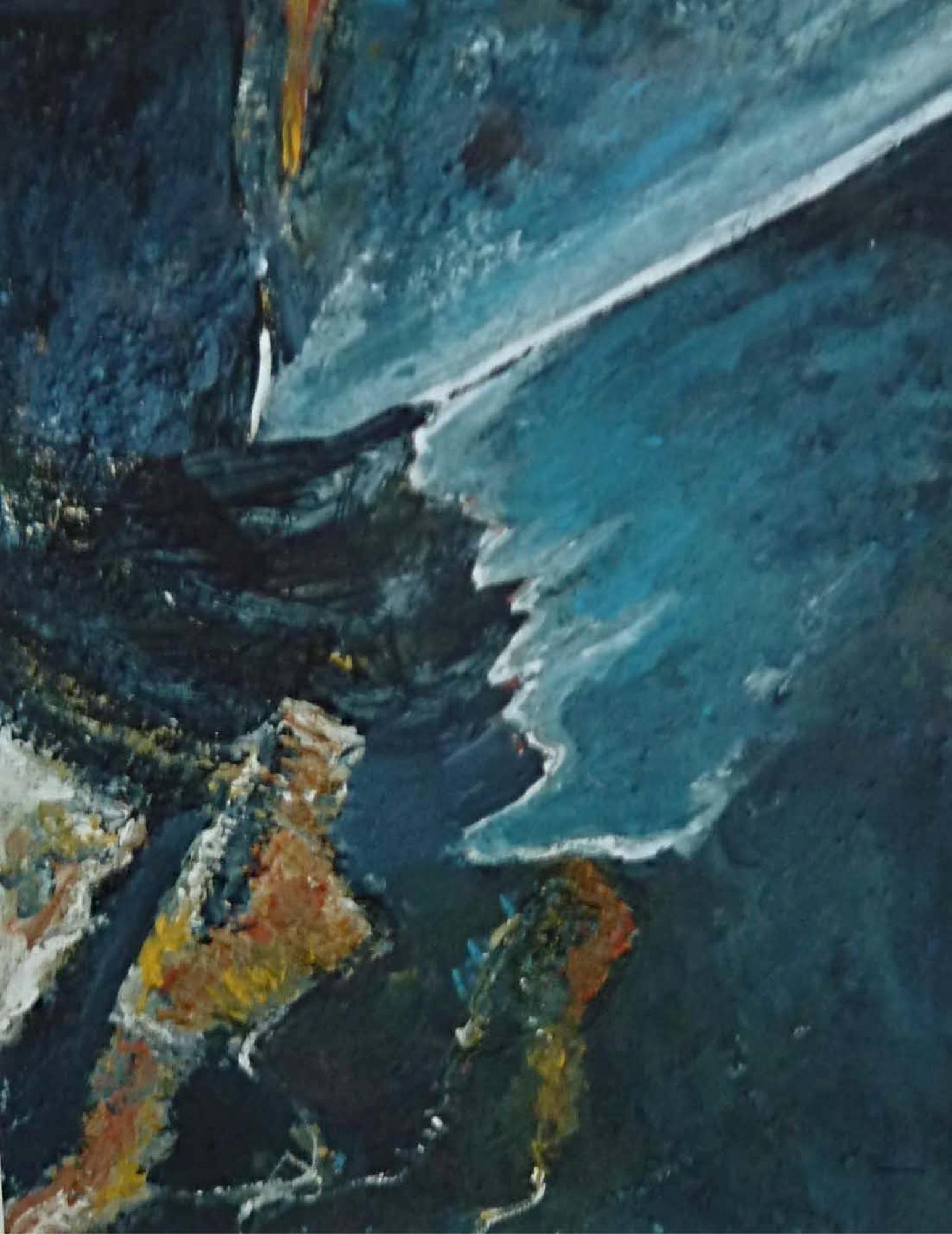 2003 - Licht und Dunkel, 40x50cm, Acryl-Spachteln