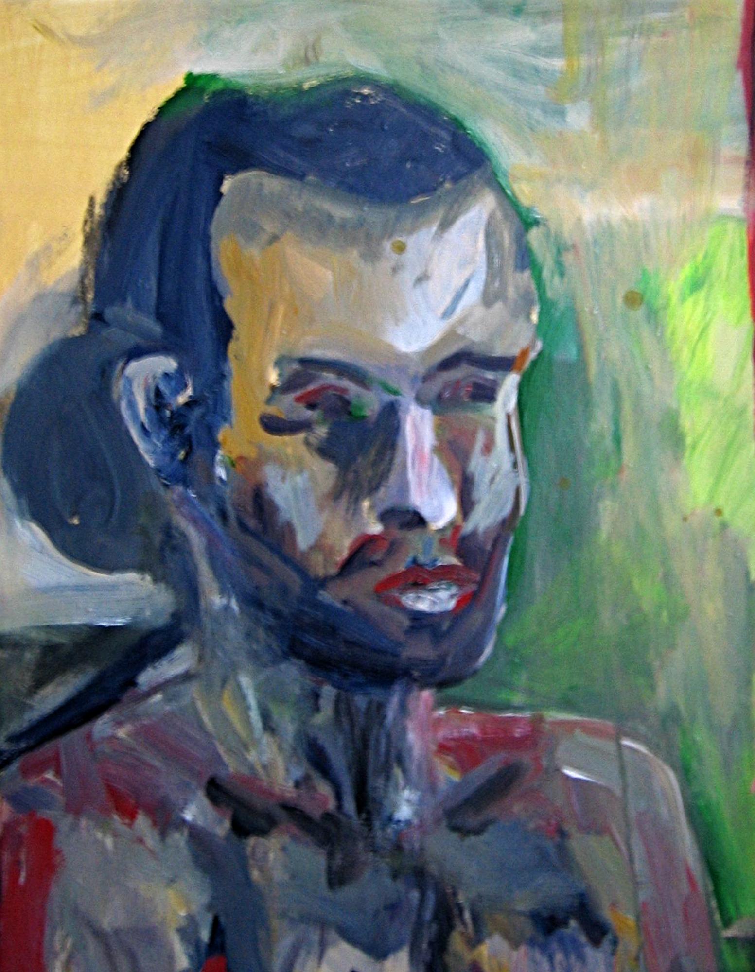2008 - Portrait Mann, 50x60cm, Acryl-Spachteln