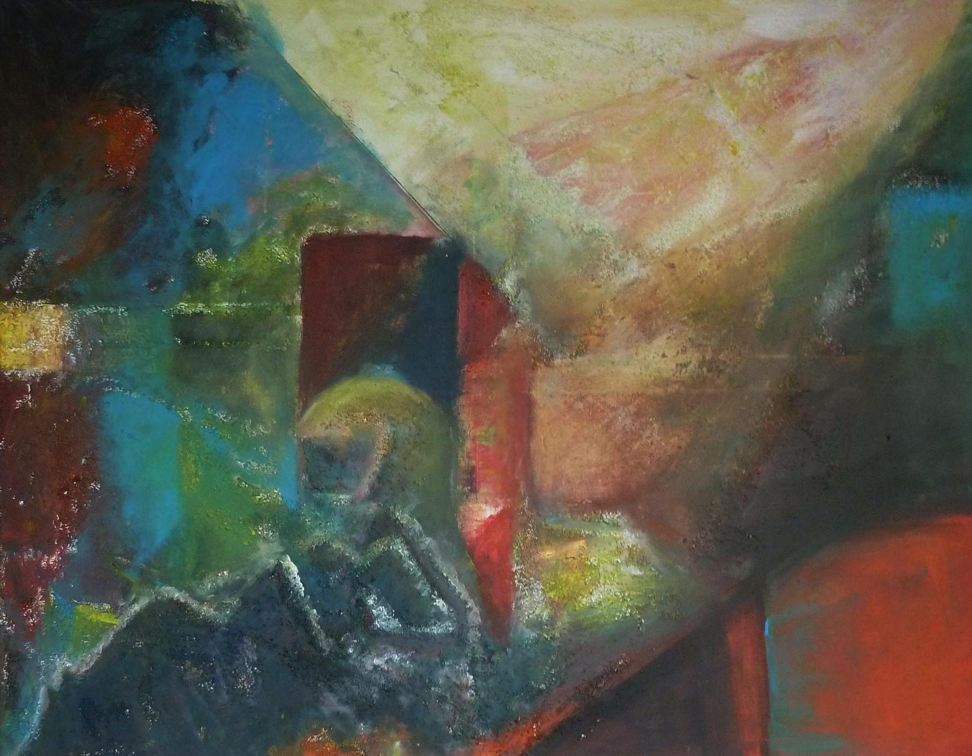 2015 - Rhodt - Abstrakt, 100x80cm, Acryl-Spachteln