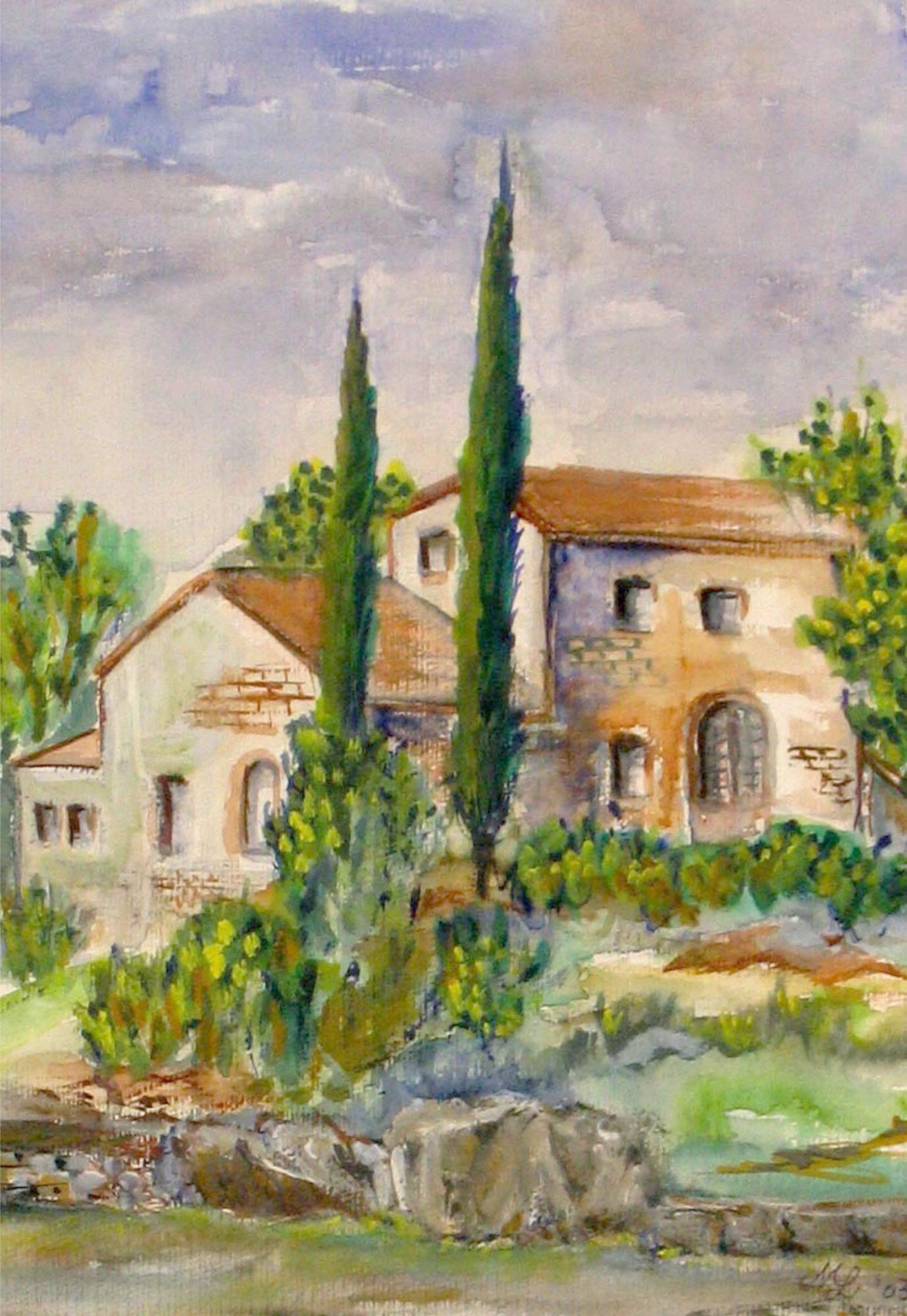 2004 - Toscana, 30x40cm, Aquarell