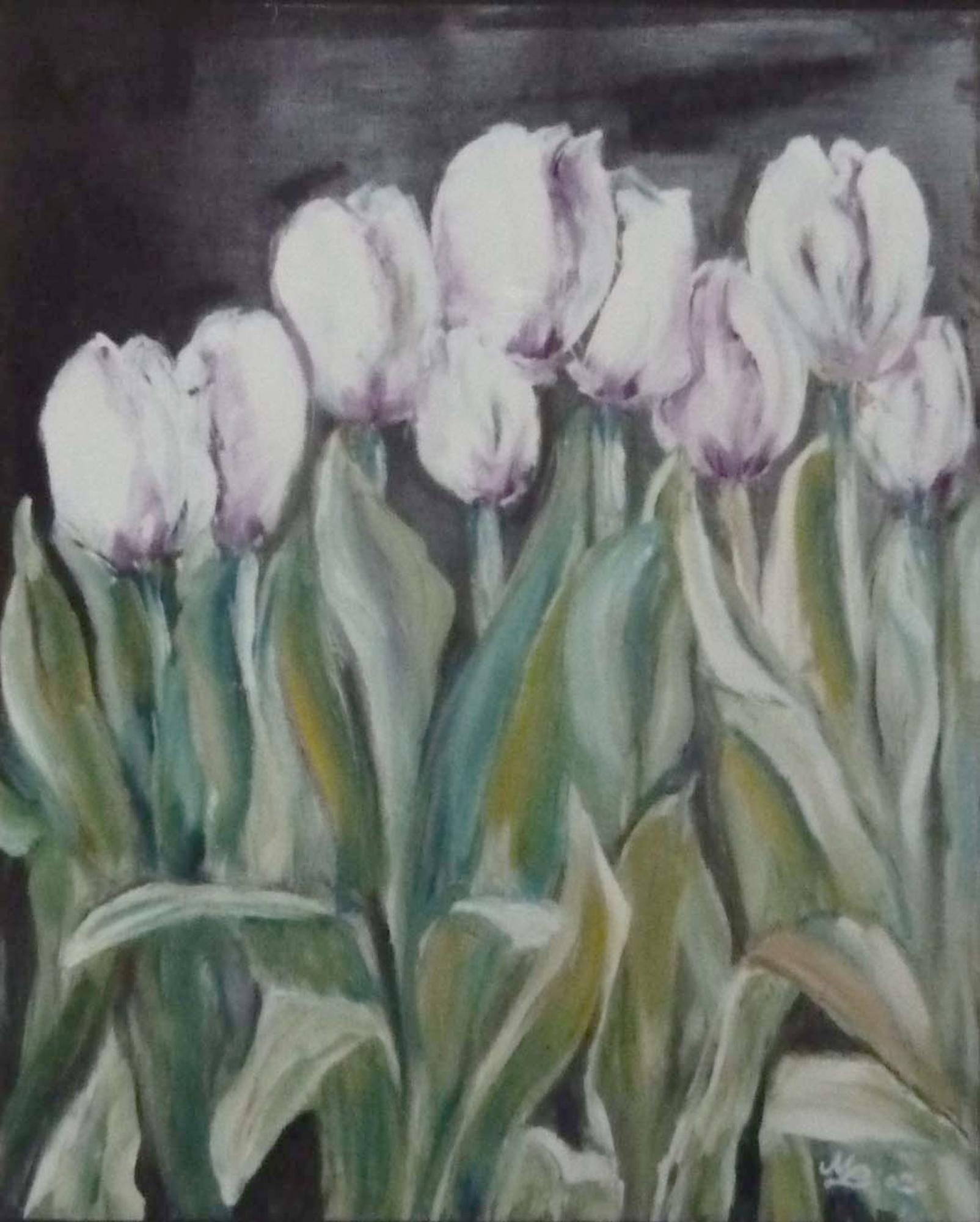 2009 - Weiße Tulpen, 50x60cm, Acryl