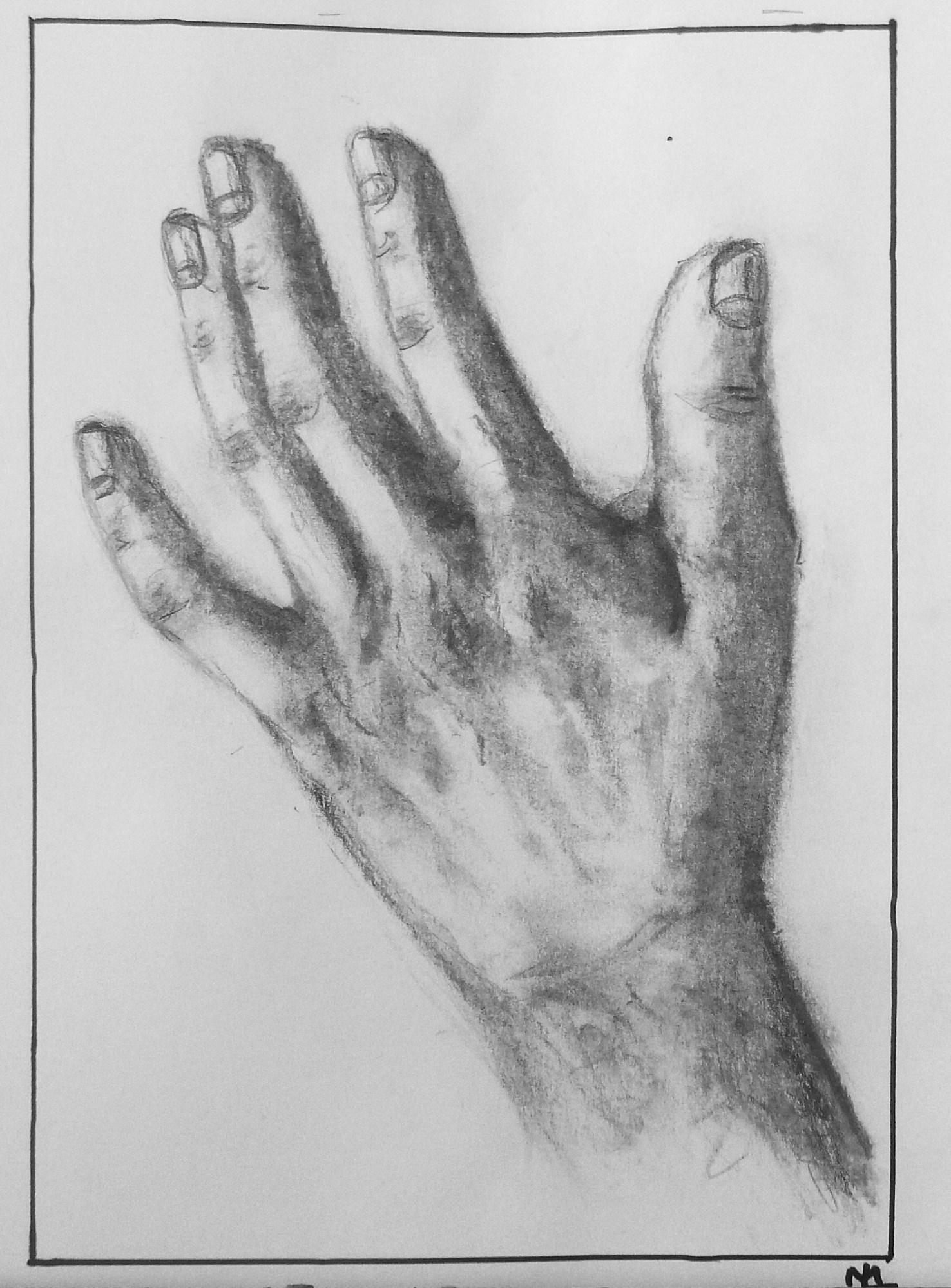 2009 - Meine Hand, Bleistift