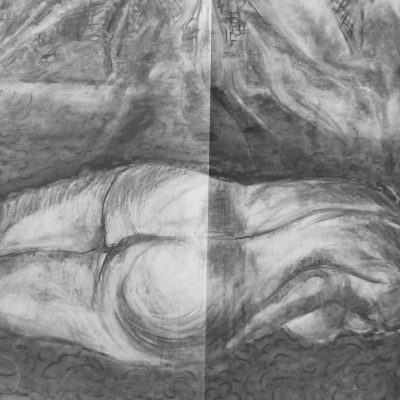 2008 - Liegender Akt, 60x50cm, Bleistift