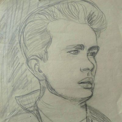 2000 - Portrait James Dean, 40x50cm, Bleistift
