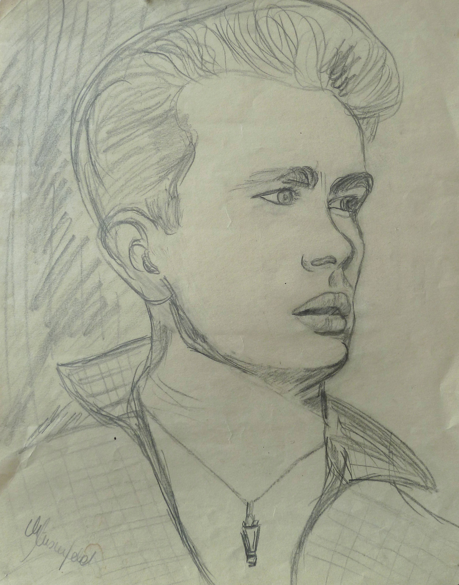 2000 - Portrait James Dean, 40x50cm, Bleistift